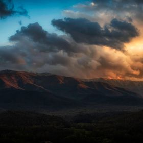 Sunset in the Tennessee mountains