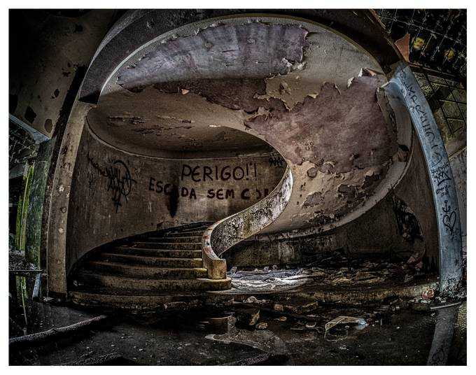 Hotel Staircase by lynnbuckley - Abandoned Photo Contest