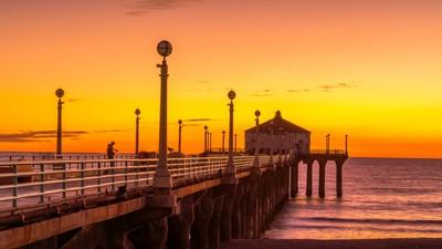 Sunset in Manhattan Beach