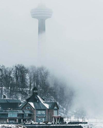   Foggy Niagara Falls  