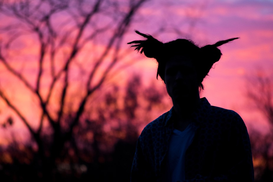 Took my artist friend out into a local forest preserve to catch one of the most stunning sunsets ...