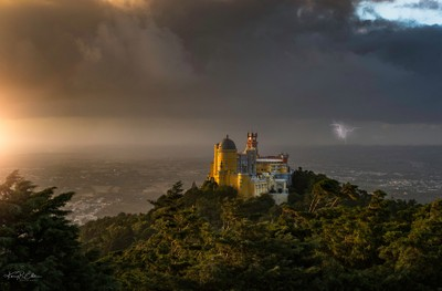Storm at Pena Palace