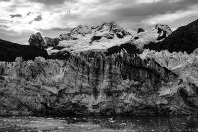 Alaska Glacier in Black and White