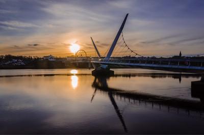 Peace bridge Derry Londonderyy northern ireland