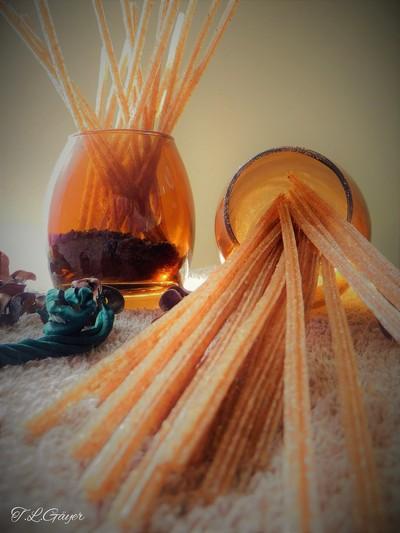 Amber Light and Sticks