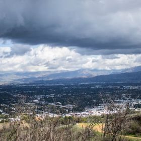 Los Angeles is usually devoid of weather, so it was unusual to catch a glimpse of this storm brewing.