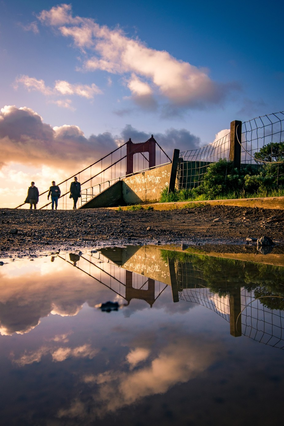 San Fran Reflections  by teddymorrow - Sunset And The City Photo Contest