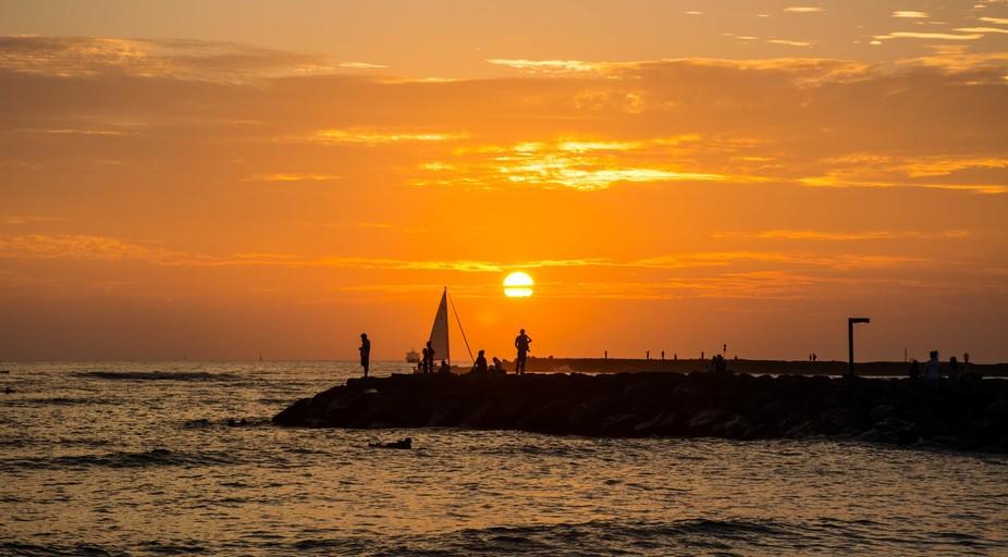 Sunset - Waikiki Beach, Hawaii