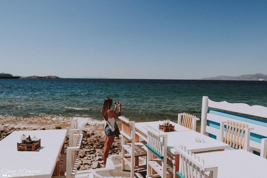 girl in mykonos