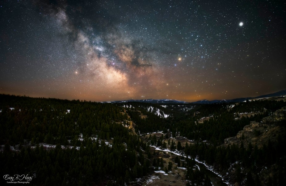 This photo was taken in Sluice Boxes State Park in Montana on the canyon rim. After 3 weeks of cl...