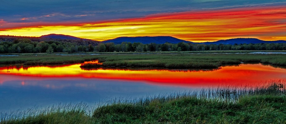 The Nerepis Marsh, Westfield NB, at sunset.