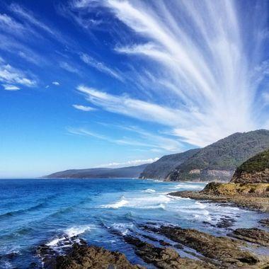 The Great Ocean Road in Lorne, Australia.