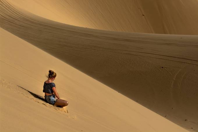 On the dunes by vleprutt - Sitting In Nature Photo Contest
