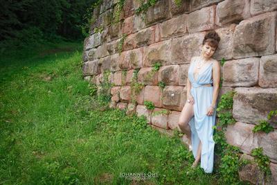 At an old wall