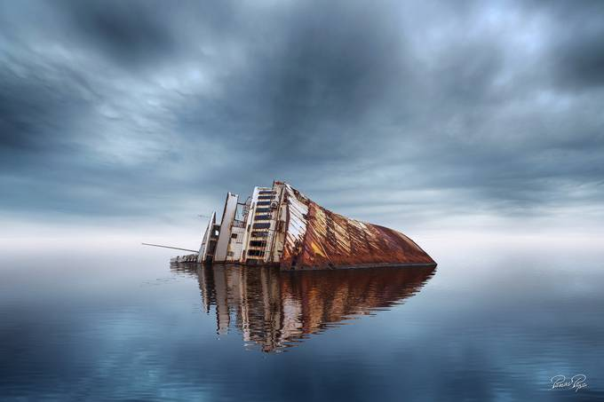 Mediterranean Sky shipwreck by panospapa - Image Of The Month Photo Contest Vol 32