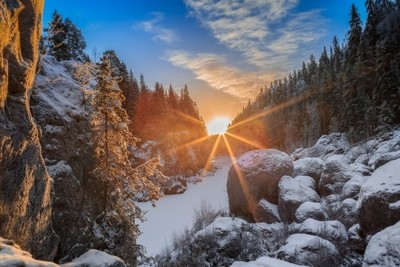 sun light beams