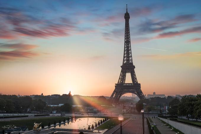 Eiffel Tower Sunrise  by kerryellis - Paris Photo Contest