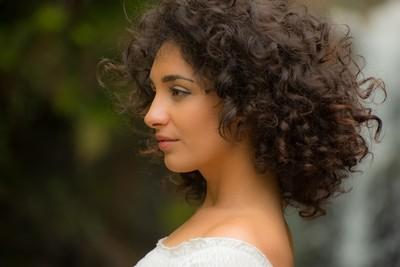 Curly hair portrait.