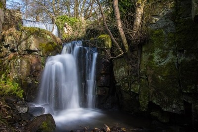 Lumsdale falls.