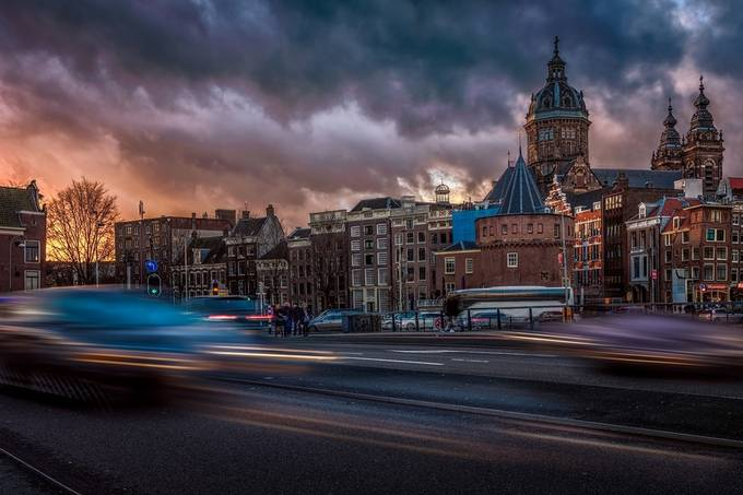 Amsterdam Moves by DennisartPhotography - City Sunsets Photo Contest
