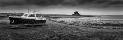 Boat at Lindisfarne castle, England
