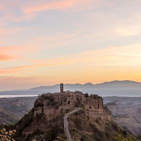 "Landscape of Civita di Bagnoreggio in Lazio. An amazing place to dicover in the center of Italy. This little town is called ""The city that d..."