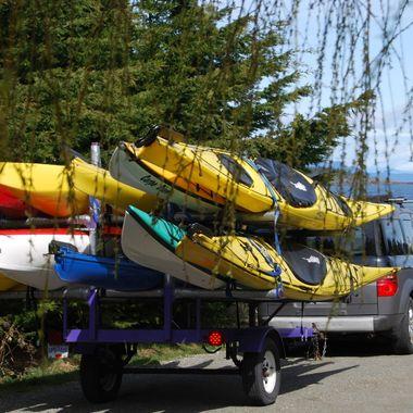 Kayaks in Nanoose - Saturday 31 March 2018