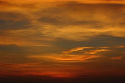 Himmel nach sonnenuntergang