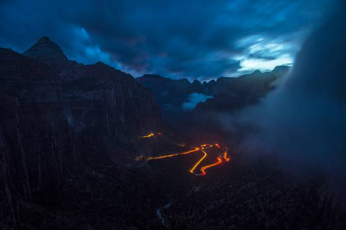 Road to Zion by ryankostphotography - The Night And The Mountains Photo Contest