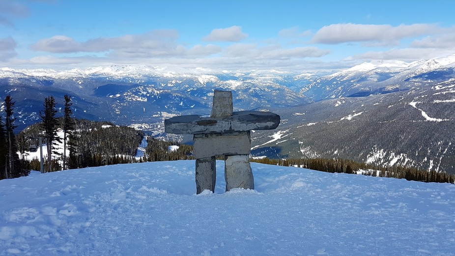Inukshuk atop Whistler -Canada