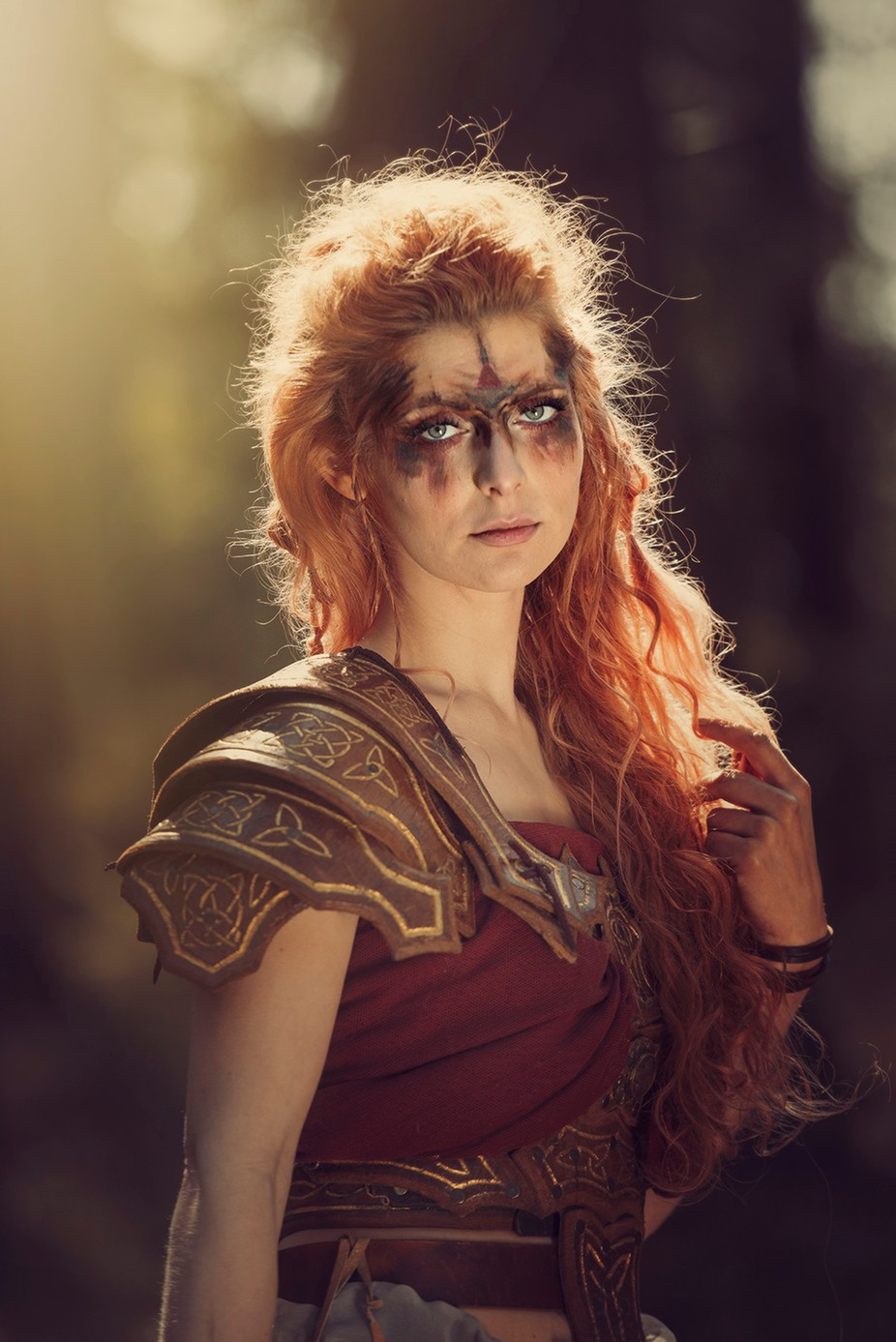 Red Hair warrior  by tinaradnic - Red Hair Photo Contest