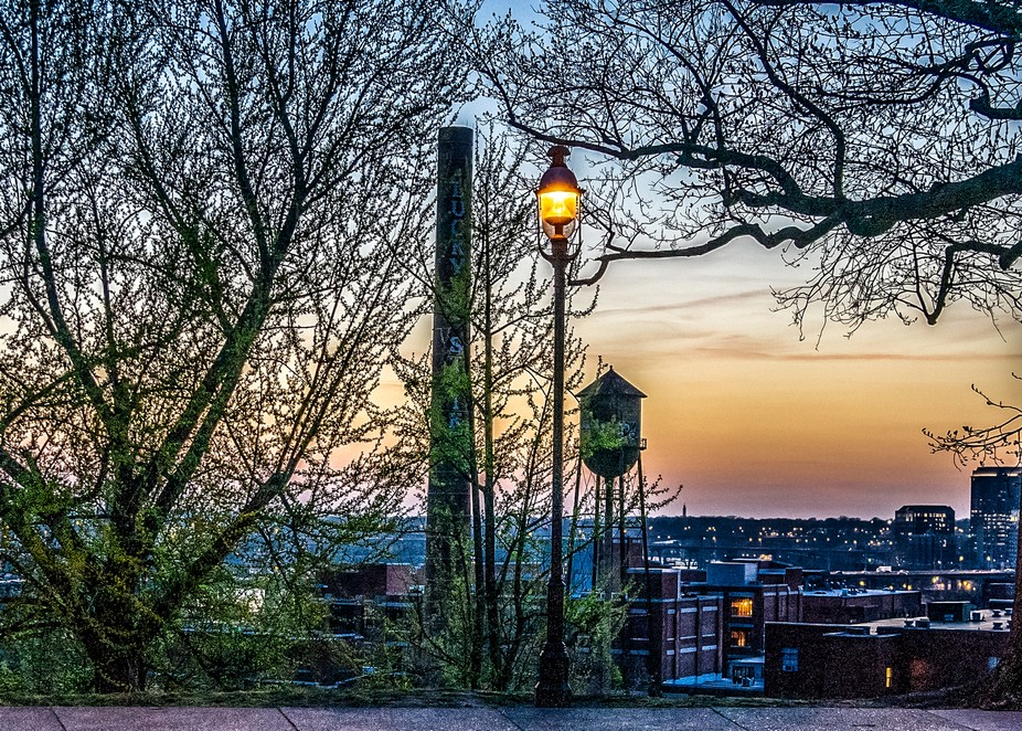 This image was captured during a sunset at Libby Hill, in Richmond VA .. it overlooks the lower e...