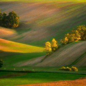 Moravian fields, Moravia, Czech Republic, around the village Kyjov