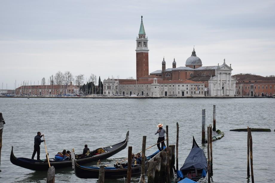 St Georgio Maggiore and the gondolier