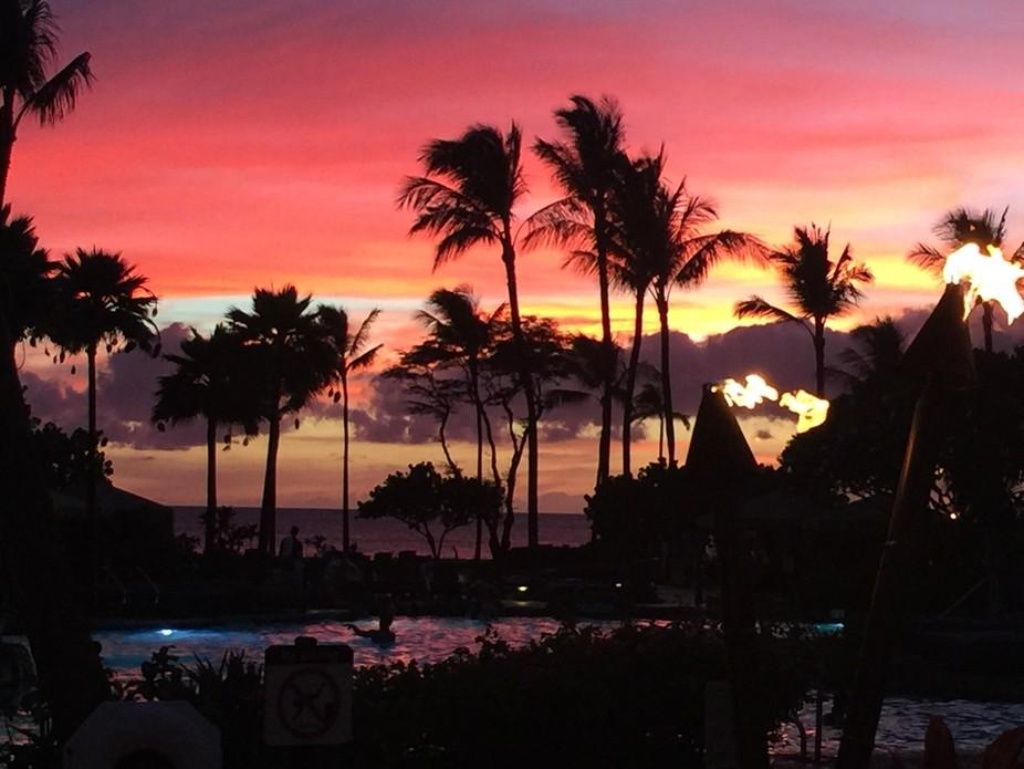 Beautiful sunset in Maui last year