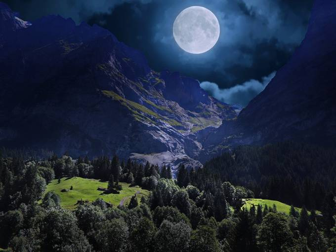 Night in Grindelwald