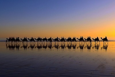 Sunset Caravav up in the Kimberleys Westerb Australia