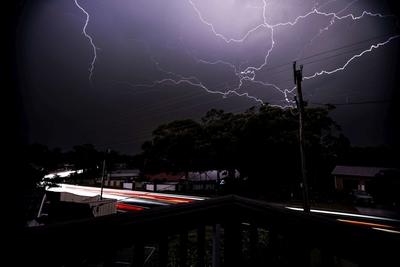 Thunderstorm off the balcony