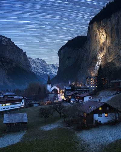 Lauterbrunnen star trails