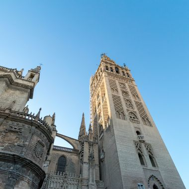 a view of the gothic architecture in Seville,Spain