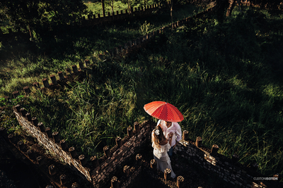Love under a umbrella
