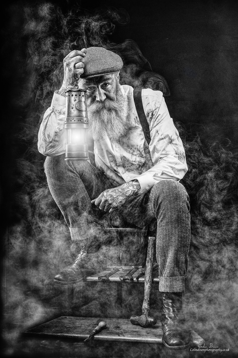 Pip the Miner 3 by ColinDixonPhotography - Black And White Compositions Photo Contest vol3