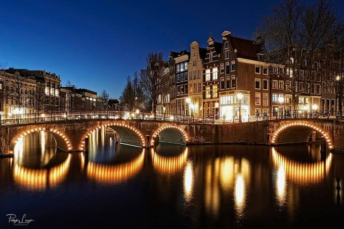 Amsterdam by lszlpotozky - Bridges In The Night Photo Contest