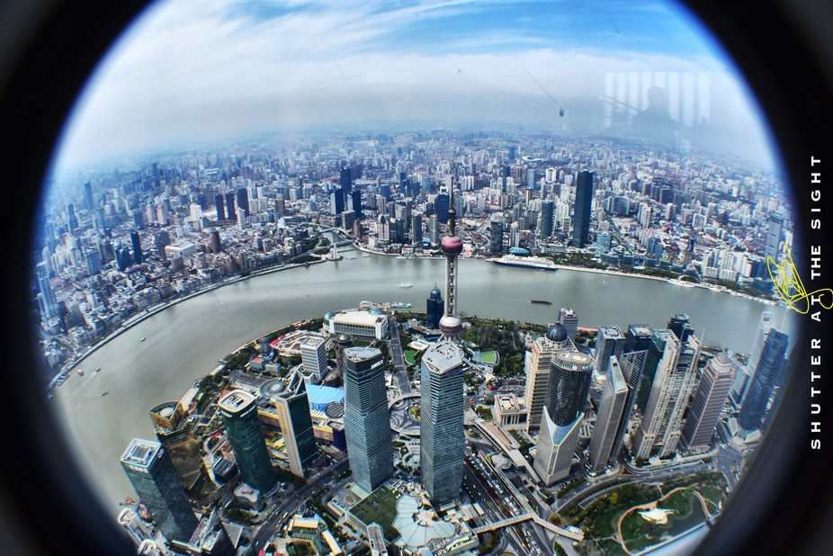 From the Shanghai Tower, Pudong, China. Currently it's the 2nd tallest building in the w...
