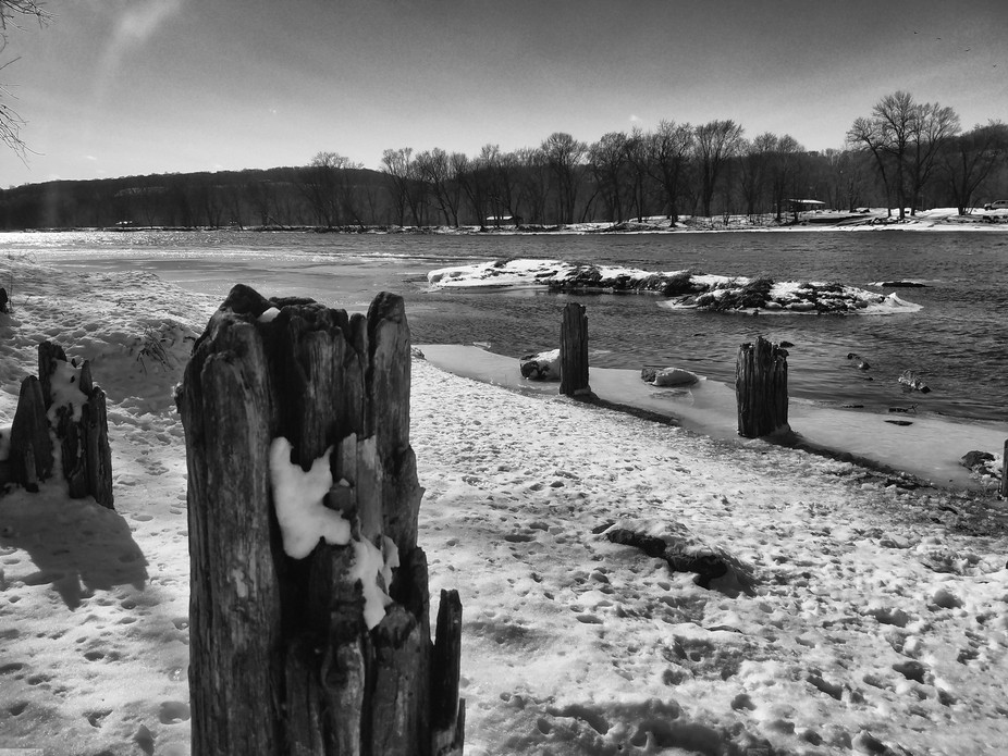 This was actually taken on a hike.  That is snow and the river had just recently thawed enough.  ...