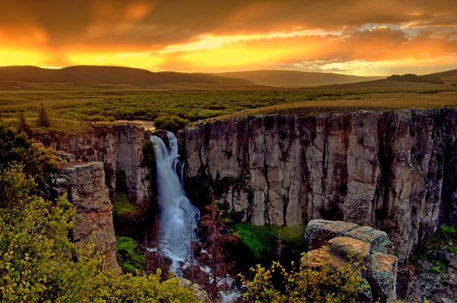 North Clear Creek Falls Sunset
