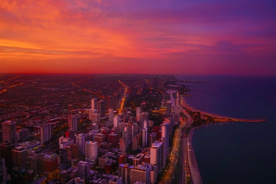 Beautiful vew from 360 Chicago deck