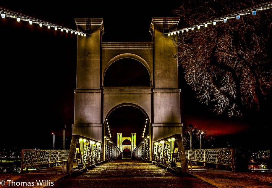 Suspension Bridge in Waco, TX, USA