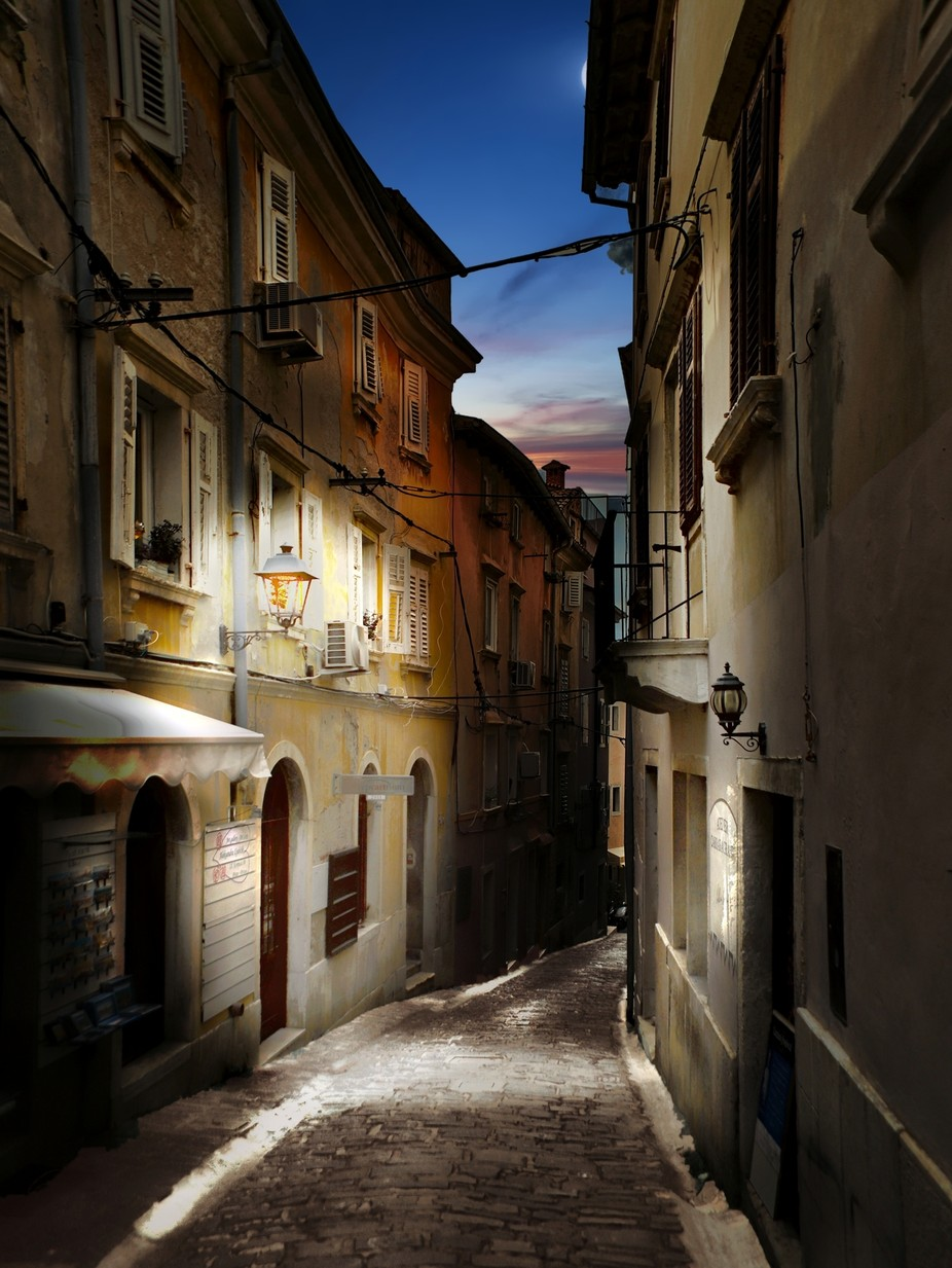 Piran at night by vadja - Sunset And The City Photo Contest