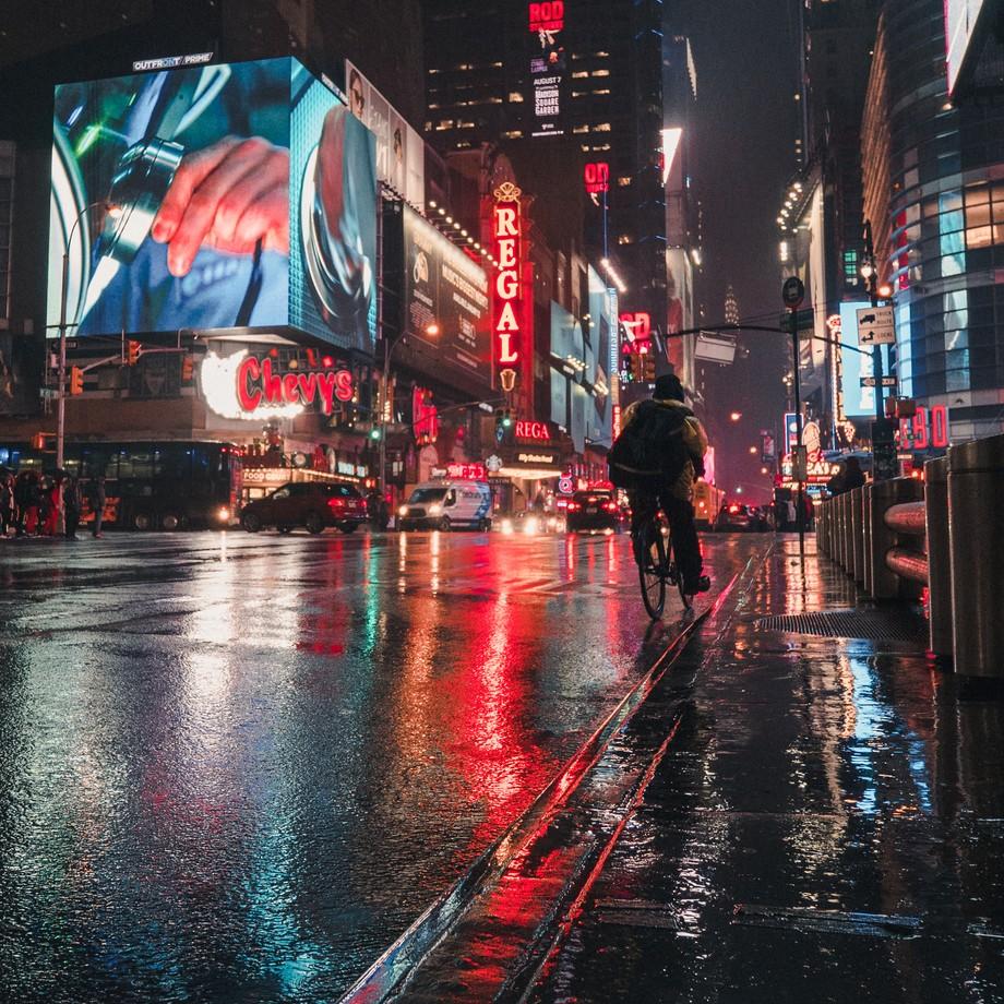 Lights and rain in NYC by PitifulPhotographer - New York Photo Contest